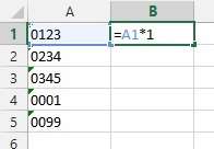 Formula that converts 'text' number to 'numeric' number