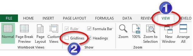 Where to switch gridlines on or off