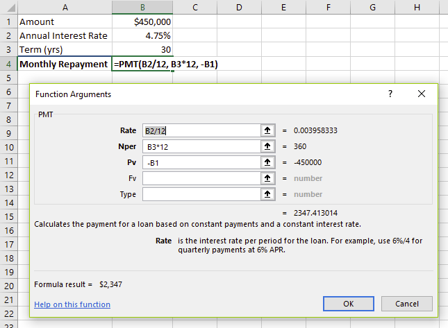 The PMT calculation