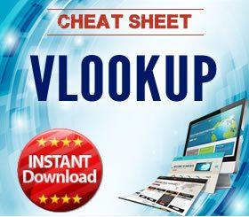 Cheat Sheet - VLOOKUP formulas in Excel