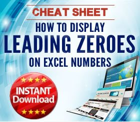 Cheat Sheet - How to display leading zeroes in Excel
