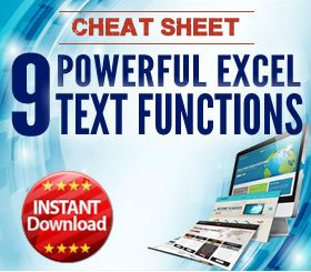 Cheat Sheet - 9 powerful Excel TEXT functions