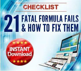Checklist - 21 Fatal formula fails