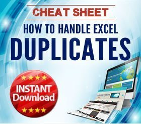 Cheat Sheet - How to handle duplicates in Excel