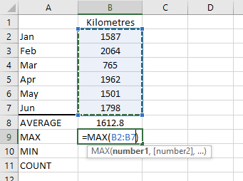 Figure 04a: Fix the cell range for the MAX function