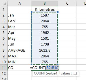 Figure 06: The COUNT Function