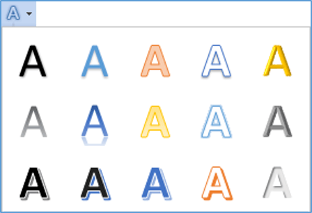 The Text Effects and Typography (WordArt) tool in Word