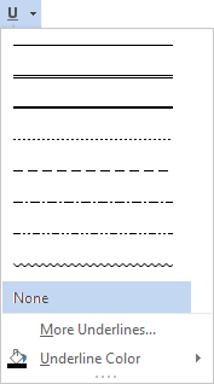 Change the underline type and underline colour