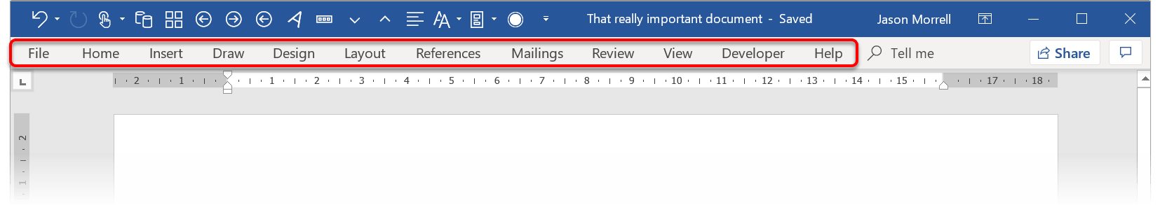 The 'Show Tabs' option in Word