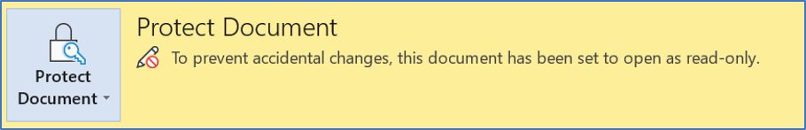 Protect Document by making it read-only