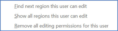Choose one of the 3 Restrict Editing options