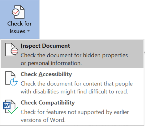 Inspecting a document for flaws and issues