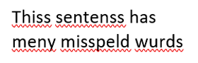 Bad spelling: Case 1 for using a Word auditing tool
