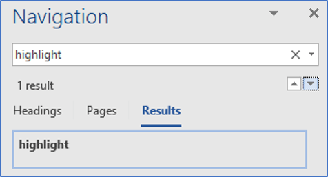 Word auditing tool #5: FIND. Use the Find tool to locate a word or phrase in your document