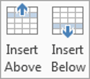 How to insert an extra row into a table in Word