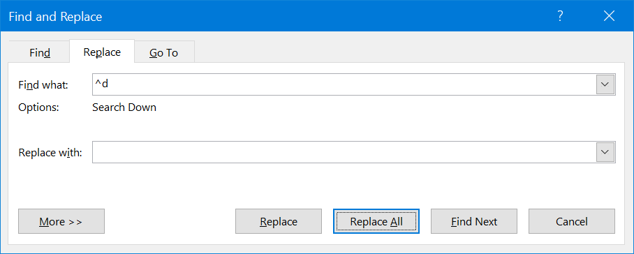 Remove field codes from a document