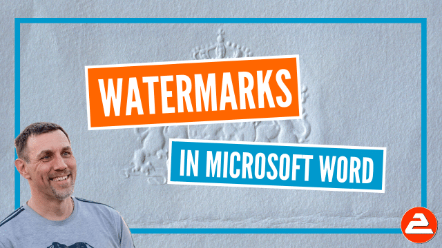 Use the watermark feature to add text watermarks or image watermarks to your document. Did you know you can also use headers and footers to do it?