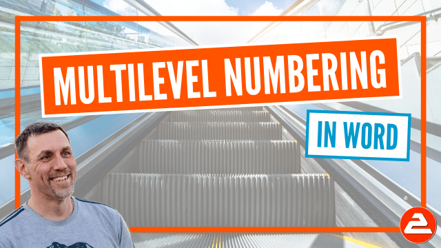 Create a multilevel numbering system in Word (such as 1 - 1.1 - 1.1.1 ) that works automatically, is consistent and is easy to maintain.