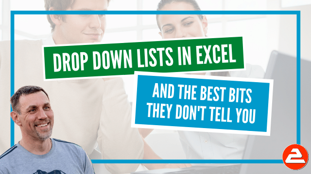 Drop down lists in Excel are functional and useful, But best of all it makes you look good! It also improves the accuracy of data and is easy to set up.