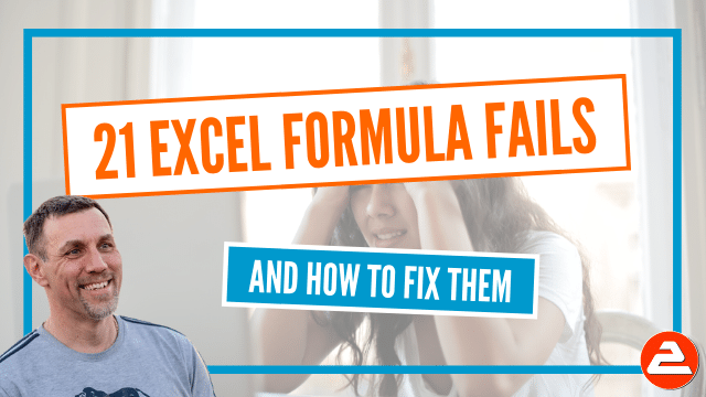 Identify, fix and avoid the most common formula errors on an Excel spreadsheet. Finally, put your formula headaches to bed.