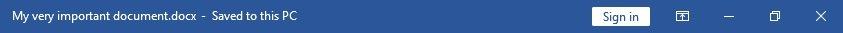 Windows title bar