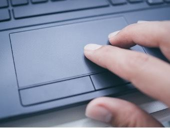 Laptops use a trackpad instead of a mouse