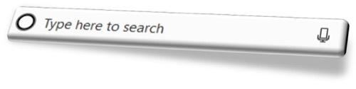 Windows Cortana search bar